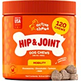 Active Chews Premium Hip and Joint Dog Treats, Glucosamine for Dogs, Chondroitin MSM and Turmeric for Dogs, Extra Strength Su