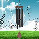 Reliancer Memorial Wind Chime Outdoor Large Deep Tone 31'' Amazing Grace Wind-Chime with 6 Aluminum Tubes Elegant Melodic Sym