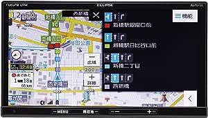 デンソーテン イクリプス(ECLIPSE) カーナビ AVN-S8 地図自動&無料更新 地デジ(ワンセグ/フルセグ)/VICS WIDE/SD/CD/DVD/USB/Bluetooth/Wi-Fi 7型 AVN-S8