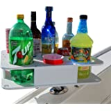 Docktail Boat Bar & Ultimate Marine Cup & Bottle Holder - This Boating Accessory Includes Rod Holder Mount - Holds Handles an