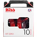 BOSS Audio Systems KIT-ZERO 10 Gauge Wiring Installation Kit for Car Amplifiers - A Car Amplifier Wiring Kit Helps You Make C