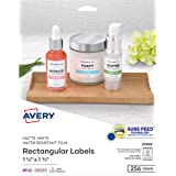 "Avery Removable Labels with Sure Feed for Laser & Inkjet Printers, 1.25"" x 1.75"", 256 Labels (22828)"