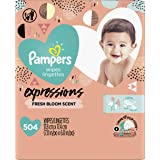 Pampers Pampers baby wipes expressions fresh bloom scent 9x pop-top packs 504 count, 504 Count