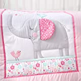 Baby Spark Belle The Elephant 3pc Soft Cotton Crib Bedding Set