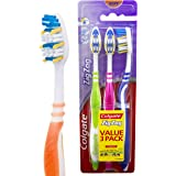 Colgate Zig Zag Deep Interdental Clean Toothbrush Flex Soft Value, 3 Pack