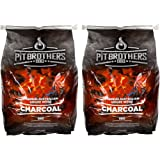 BBQ Charcoal – Slow Burning Charcoal Fuel for Barbeques – Premium Hardwood Charcoal – 2 x 8kg Bags – by Pit Brothers BBQ