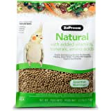 ZuPreem Natural Bird Food Smart Pellets for Medium Birds - Made in USA, Essential Vitamins, Minerals, Amino Acids for Cockati