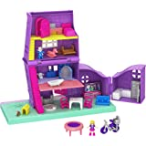 Mattel GFP42 Polly Pocket Pollyville Polly's Pocket House Playset (10 Pieces),Standard,Multi