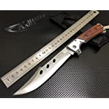 Stainless Steel Camping Knife Extended Length Large