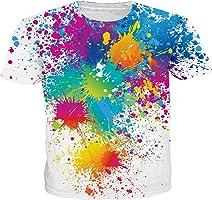 NEWISTAR T恤 男士 3D印刷 设计 时尚 休闲 夏季短袖T恤 男女通用 有大码 全39种图案