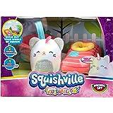"""Squishville by Squishmallows Mini Plush Room Accessory Set, Picnic, 2"""" Soft Mini-Squishmallow and 2 Plush Accessories, Marshm"""