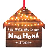 WaaHome First Christmas in Our New Home 2019 Ornaments Housewarming Gifts for New Home Christmas Tree Decorations