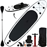 10' Inflatable Stand Up Paddle Board/Kayak and SUP! (6 Inches Thick, 32 Inch Wide Stance Width)  11-Piece Accessory Set That