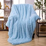 VKSLEEP Shaggy Long Fur Throw Blanket, Super Soft Faux Fur Lightweight Warm Cozy Plush Decorative Blanket for Couch,Bed, Chai