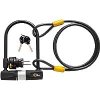 自転車用ケーブル付きU字ロック- ViaVelo自転車用耐久U字ロックは、ロード用自転車、マウンテンバイク、電動自転車…
