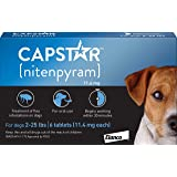 Capstar Fast-Acting Oral Flea Treatment for Small Dogs, 6 Doses, 11 mg (2-25 lbs)