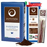 [Amazon限定ブランド] Punto Italia Espresso Journey プント・イタリア・エスプレッソ [Superiore スーペリオーレ] コーヒー粉 アラビカ豆100% ミディアム・ロースト (250g エニーロックセット)