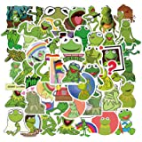 Cartoon Frog Stickers for Kids and Teen, Waterproof Stickers for Water Bottle Laptop Hydro Flask, Vinyl Decal for Phone Skate
