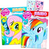 My Little Pony Coloring Book Super Set with Stickers (2 Jumbo Books and Sticker Pack Featuring Rainbow Dash Fluttershy Pinkie
