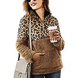 Zwirelz Women's Sherpa Pullover Soft Fuzzy Fleece Zipper Sweatshirt Jacket Sweater Winter Coat