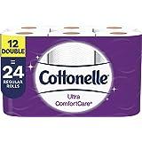Cottonelle Cottonelle ultra comfortcare soft toilet paper, 12 double rolls (24 single rolls), bath tissue, 12 Pack, 142 Count