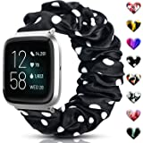 ShunDee Scrunchie Bands Compatible with Fitbit Versa/Versa 2/Versa Lite & Special Edition for Women Men, Soft Fabric Elastic