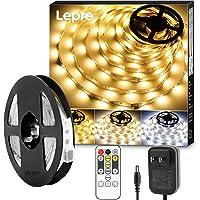 Lepro テープライト ledテープ 5m 電球色・昼白色・昼光色 明るさ調整 間接照明 リモコン付き 調光調色 イル…