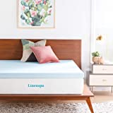 Linenspa 2 and 3 Inch Gel Infused Memory Foam Mattress Topper, Gel, Twin XL