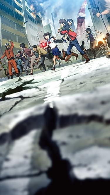 2009年に放送されたテレビアニメ - マグニチュード8.0の海溝型大地震が発生し避難する小野沢未来・悠貴,日下部真理