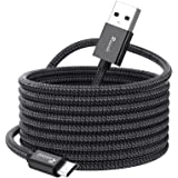 Ruaeoda Long Micro USB Cable Android Charger 25ft with Gold-Plated PS4 Charger Cable - High Speed 2.0 USB A Male to Micro USB