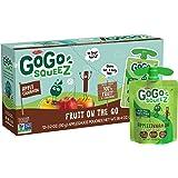 GoGo squeeZ Applesauce, Apple Cinnamon, 3.2 Ounce (12 Pouches), Gluten Free, Vegan Friendly, Unsweetened Applesauce, Reclosea