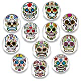 Pack-12 Skull Refrigerator Magnets, Death's Head Style Fridge Magnets, Cosylove Cute Magnets for Decorative Fridge, Home Deco