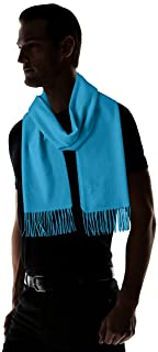 Plus Solid Cashmere Scarf 11-45-0373-869: Turquoise