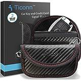 Mini Faraday Bag for Key Fob (2 Pack), TICONN Premium Faraday Cage Car Key Protector - RFID Signal Blocking, Anti-Theft Pouch