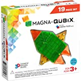 Magna Qubix 19Piece Clear Colors Set, The Original, Award-Winning Magnetic 3D Building Shapes,Multicolor,18019