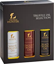 Truffle Oil Selection Gift Set by TruffleHunter - Contains White Truffle Oil, English Truffle Oil, Black Truffle Oil (3 x 3.