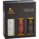 Truffle Oil Selection Gift Set by TruffleHunter - Contains White Truffle Oil, English Truffle Oil, Black Truffle Oil (3 x 3.3