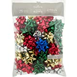"""Hallmark Holiday 3"""" Bow Assortment (75 Bows; Red, Green, Blue, Gold, Silver) for"""