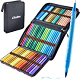80 Colors Art Markers Set, Ohuhu Dual Tips Coloring Brush Fineliner Color Marker Pens, Water Based Marker for Calligraphy Dra