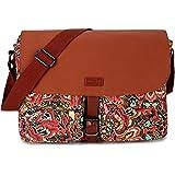 BAOSHA Women's Satchel Messenger Bag Cross Body Canvas Bags Bookbag MS-01 (Multicolored)