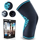 POWERLIX Knee Compression Sleeve | Knee Brace for Men & Women | Helps with Knee Pain | Knee Support for Running, Basketball,