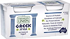 Farmers Union Natural Greek Style Yoghurt, 140g, Pack of 2 - Chilled