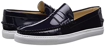 Daniele Lepori Patent Leather Loafer 115-43-0849: Navy