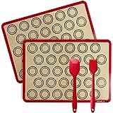 Silicone Baking Mats - Reusable, Non-Stick, Food Safe Macaron Baking Mat, Temperature Resistance -40° F ~ 480° F for Bake Pan
