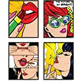 RipGrip The Carefree Bee Sets of 4 Posters (Pop Art 1)