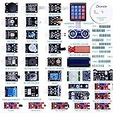 ELEGOO Upgraded 37 in 1 Sensor Modules Kit With Tutorial Compatible With Arduino IDE UNO R3 MEGA2560 Nano