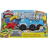 Hasbro E6891 Play-Doh Wheels- Cement Truck with 4 tubs of Non Toxic Dough inc Cement Compound- Sensory and Educational Craft