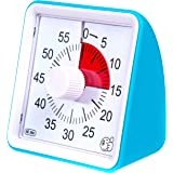60-Minute Visual Analog Timer - Countdown Clock for Classroom, Kids with Autism, Silent, No Loud Ticking - Kitchen Minute Tim