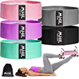 MhIL Resistance Bands - Best Exercise Bands for Women and Men - Thick Elastic Fabric Workout Bands for Working Out Legs, Butt