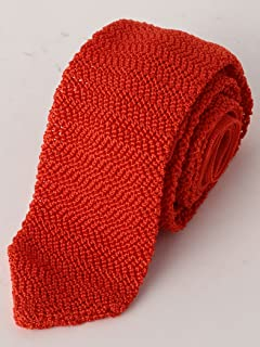 Silk Knit Tie 3134-343-2387: Orange